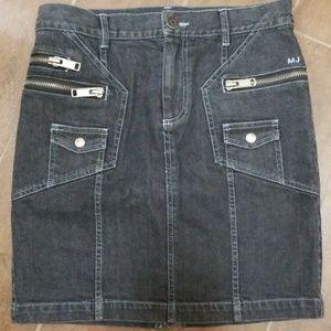 Marc Jacobs black denim skirt-2